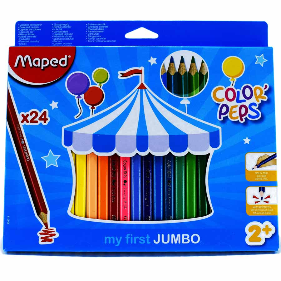 Color Largo JUMBO Maped Maxi 24 Colores