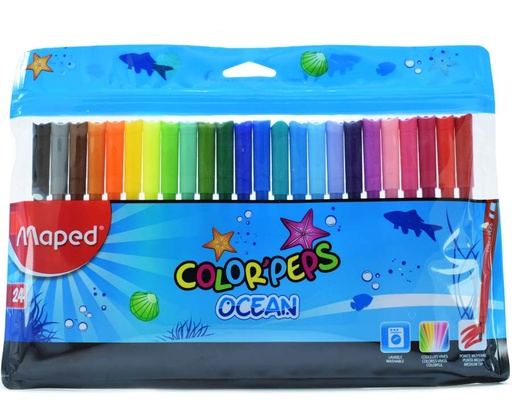 Marcador Maped Ocean - 24 colores