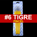 [815-6] Pincel Tigre 12pcs #6