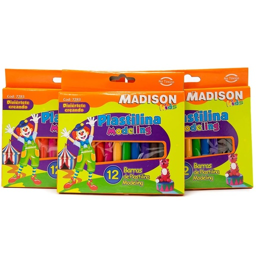 Plastilina Madison - 12 colores
