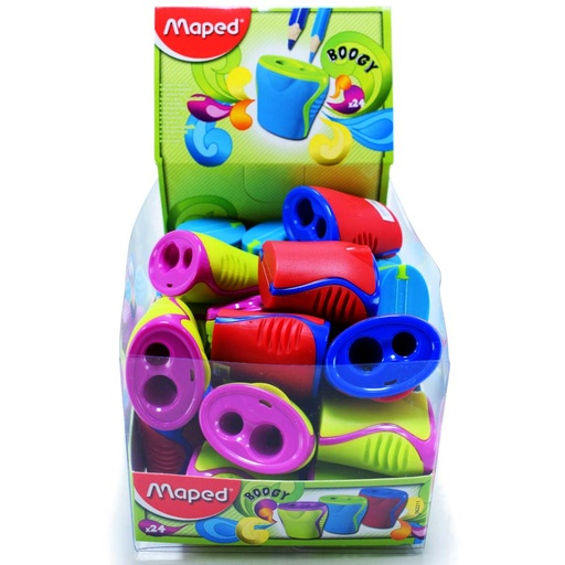 Tajador BOOGY c/deposito doble Maped 24PCS
