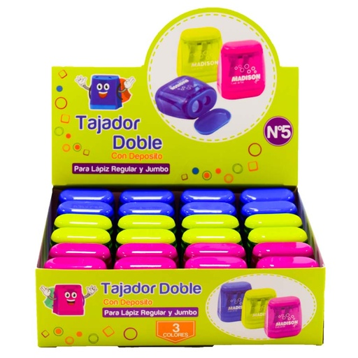 Tajador Doble deposito Nro 5 MADISON 24PCS