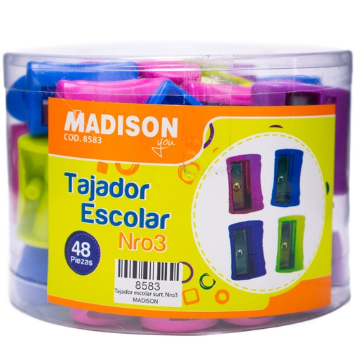 Tajador Escolar plast. 8583 Madison 48PCS