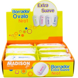 [7294] Borrador Ovalo GRANDE no 1 MADISON  24Pcs
