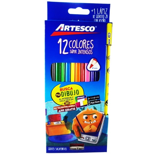 Color Largo Artesco 12 Colores