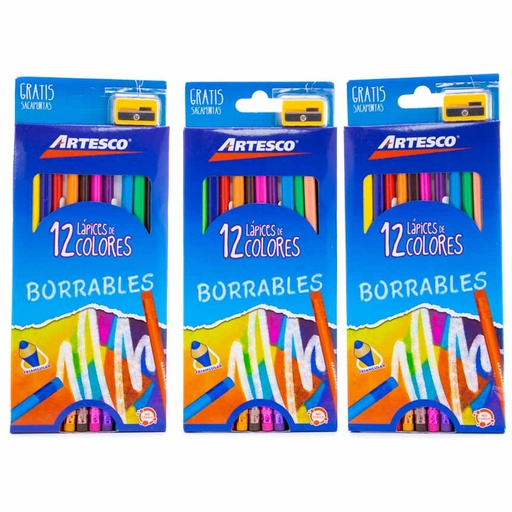 Color Largo BORRABLE Artesco 12 Colores