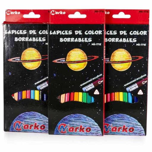Color Largo BORRABLE Marko 12 Colores
