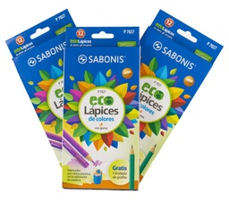 [P7027] Color Largo BORRABLE Sabonis Hex. ECO Lapices 12 Colores