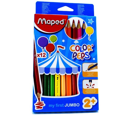 Color Largo JUMBO Maped Maxi 12 Colores