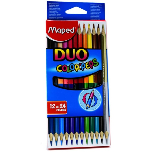 Color largo maped peps Duo Bicolor 12colores